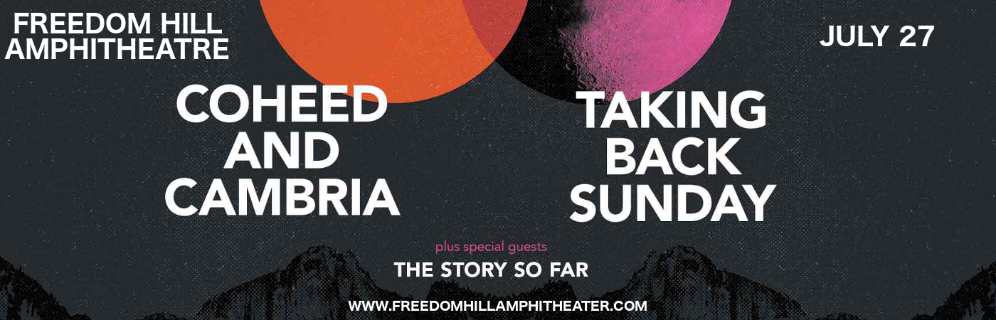 Coheed and Cambria & Taking Back Sunday at Freedom Hill Amphitheatre