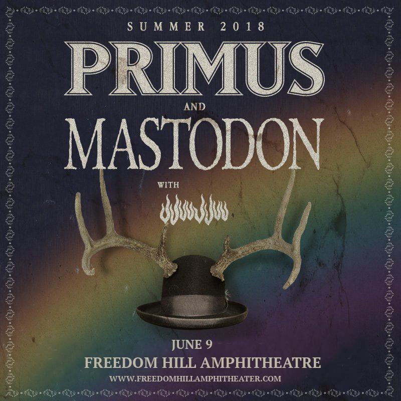 Primus & Mastodon at Freedom Hill Amphitheatre