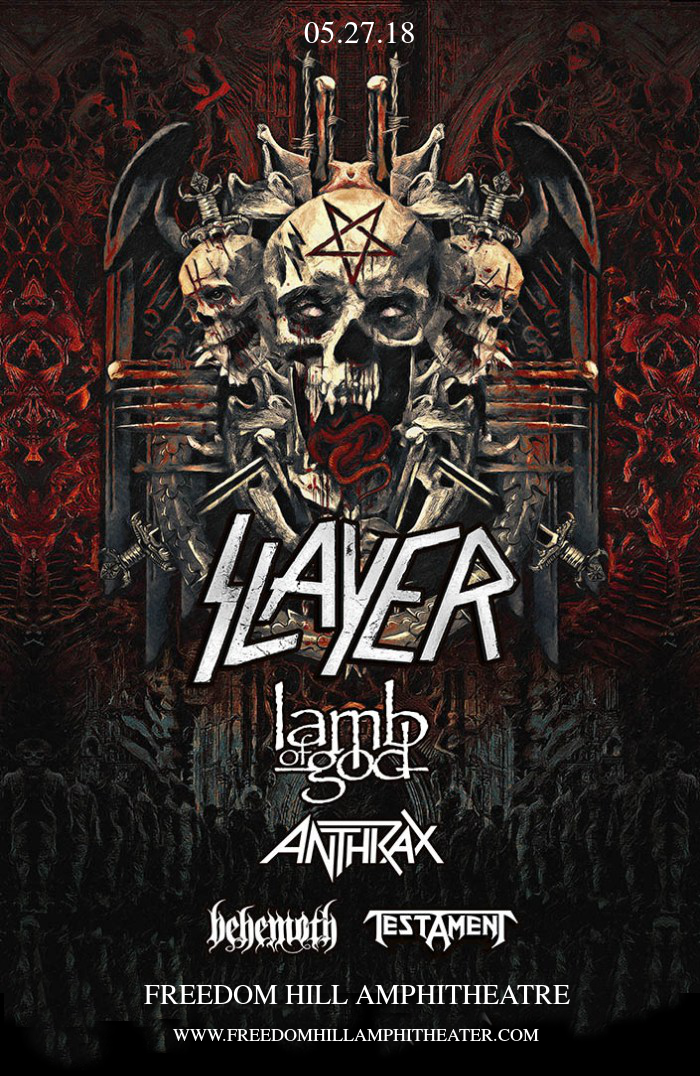 Slayer, Lamb of God, Anthrax. Behemoth & Testament at Freedom Hill Amphitheatre