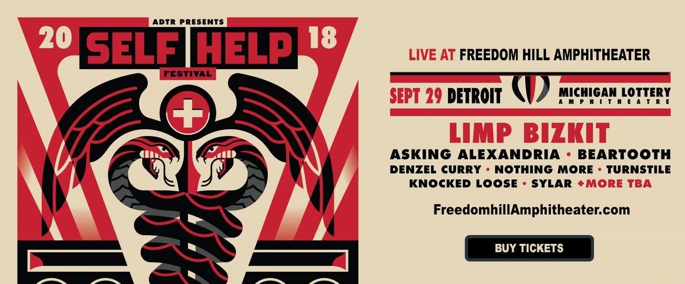 Self Help Fest: Limp Bizkit, Asking Alexandria & Beartooth at Freedom Hill Amphitheatre