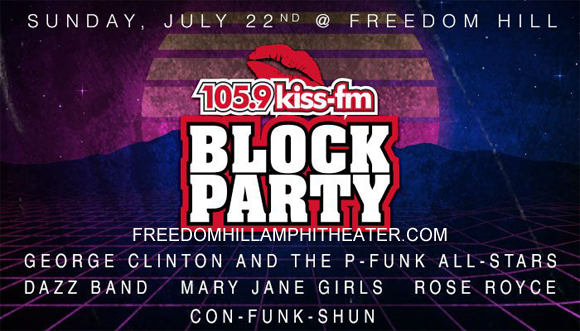 Kiss Block Party: George Clinton Birthday Bash at Freedom Hill Amphitheatre