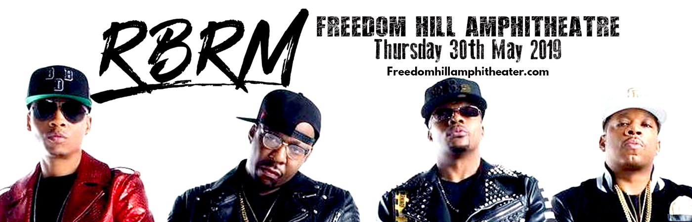 RBRM: Ronnie DeVoe, Bobby Brown, Ricky Bell & Michael Bivins at Freedom Hill Amphitheatre
