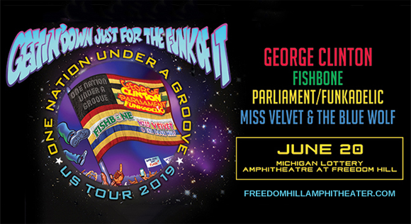 One Nation Under A Groove: George Clinton, Parliament Funkadelic, Fishbone, Dumpstaphunk & Miss Velvet and the Blue Wolf at Freedom Hill Amphitheatre