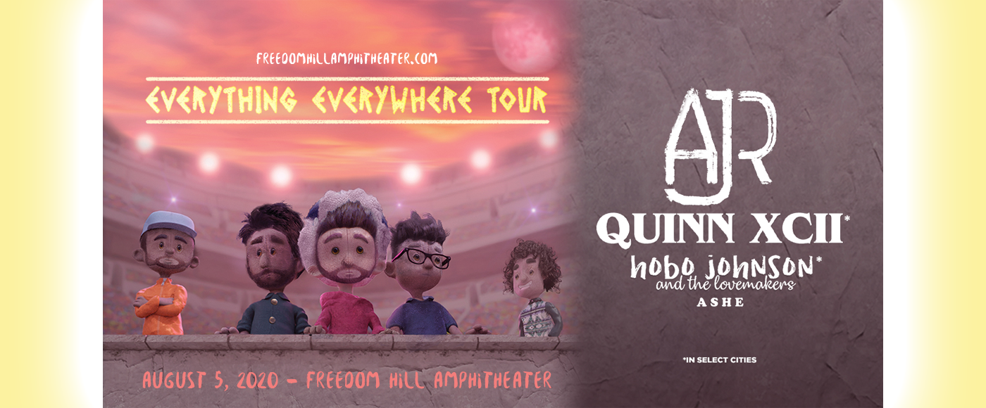 AJR, Quinn XCII & Hobo Johnson and The Lovemakers [CANCELLED] at Freedom Hill Amphitheatre