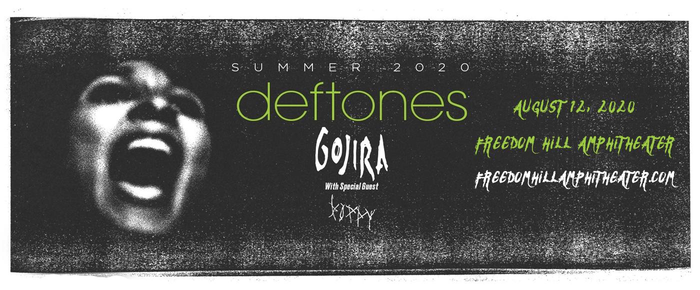 Deftones, Gojira & Poppy at Freedom Hill Amphitheatre