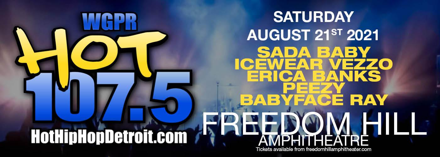 Hot 107.5 Summer Jamz: Sada Baby, Icewear Vezzo & Erica Banks [CANCELLED] at Freedom Hill Amphitheatre